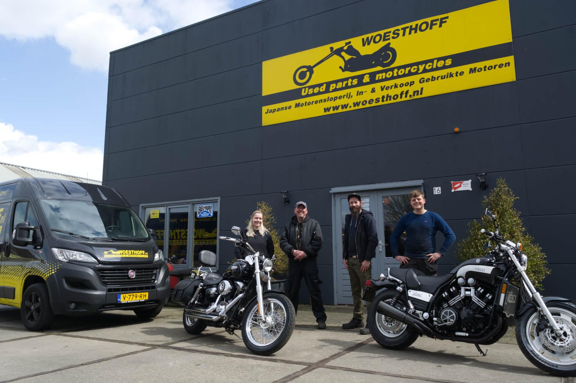 Woesthoff Used Parts & Motorcycles te Brummen - Team foto